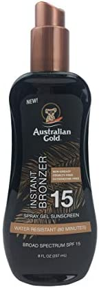 Australian Gold Spray Gel Sunscreen with Instant Bronzer SPF 15 8 Ounce Moisturize Hydrate Skin product image