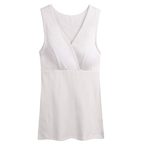 KUCI Still-Shirt/Nursing Top, Damen Still-Tank Top Leibchen Schlaf-BH für das Stillen Umstandstop