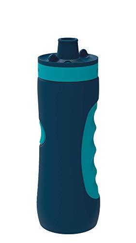 Quokka Sweat - Azurite 680 ML   Botella de Agua Deportiva Reutilizable de LDPE sin BPA   Bidón con Cierre de Seguridad para Gimnasio, Bicicleta - Ligera y Flexible