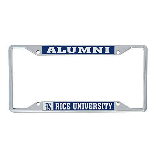 Desert Cactus Rice University Owls NCAA Metal License Plate Frame for Front or Back of Car Officially Licensed (Alumni)
