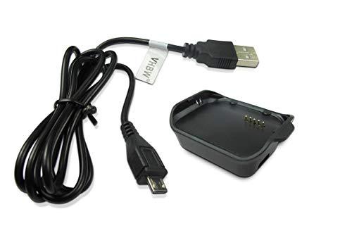 vhbw Base di Ricarica Dock con Cavo Micro USB per Orologio Samsung Gear 2 Neo Smart Watch SM-R381.