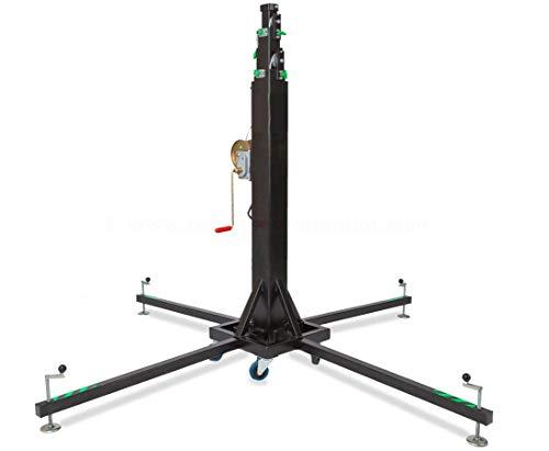 Kurbel Lift für Traversen Konstruktionen max. Höhe 650cm und max. Gewicht 300kg, HTL 300 - Aufbauhilfe für Traversen Traversenlift Stativ für Straversen Kurbelstativ Stative für Truss Wind Up