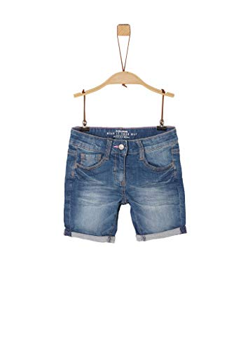 s.Oliver RED LABEL Mädchen Regular Fit: Jeans-Shorts blue stretched den 134.REG