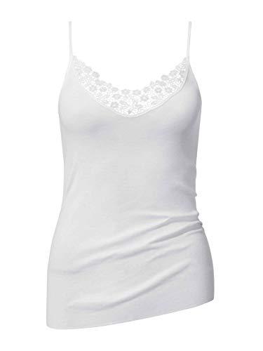 CALIDA Damen Feminin Sense Unterhemd, Weiß, 40-42