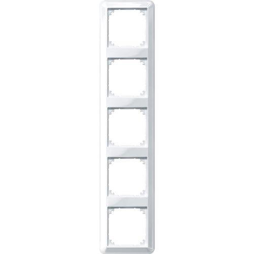 Merten 388519 ATELIER-M-Rahmen, 5fach, polarweiß glänzend