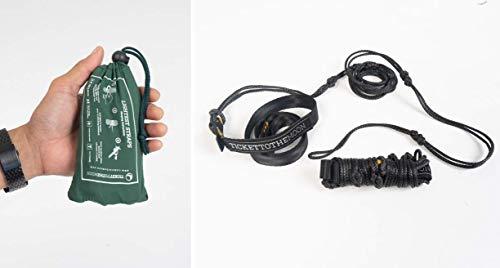 Ticket to the Moon Fair Trade & Handgemaakte Boom-Knuffelende Lightest Straps, 2 x Ultra Lichtgewicht Riemen, HPME Touw Voor Boom-Vriendelijke Installatie Van Hangmat, L=2,5m, 90g, Voor Binnen En Buiten, 10J Garantie