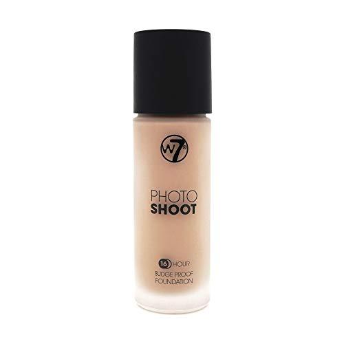W7 produits cosmétiques Photoshoot Base bouteille en verre, 28 ml - précoce bronzage