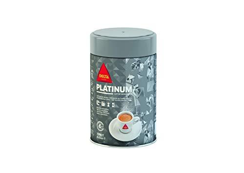 Delta - Platinum - Café molido de tueste natural - Pack 2 x 250 Gr
