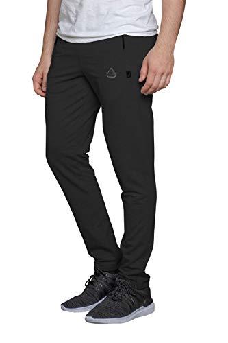 SCR SPORTSWEAR 30/33/36 Entrepierna para hombre pantalones de chándal con bolsillos cónicos corredores de los hombres Slim Fit Open Bottom Pantalones altos, Gris oscuro-k536,...