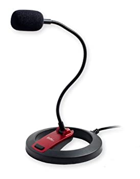 PC Goose Neck Microphone Computer Microphone With Mute Switch and Stand Plug And Play 3.5mm Microphone For Desktop/Laptop/iPad/Tablet