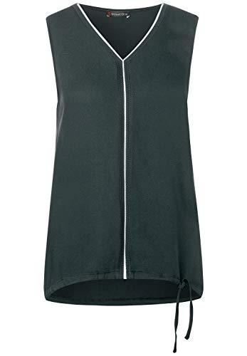 Street One Damen 315026 Ayla top T-Shirt, Comfort Green, 40