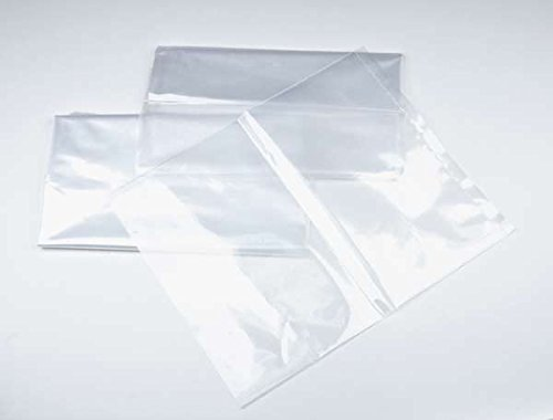 MagicWater Supply 20 x 40 1 mil. - Clear Plastic Flat Open Poly Bag - Extra Strength (100 Pack) Brand