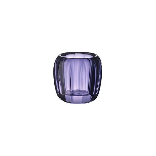Villeroy & Boch Coloured DeLight Kleiner Teelichthalter Gentle Lilac, 7 cm, Kristallglas, Klar/Lila