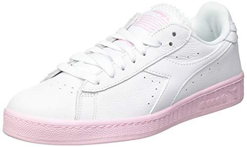 Diadora Game L Low Sole Block Wn, Scarpe da Ginnastica Donna, Super White/Parfait Pink, 40 EU