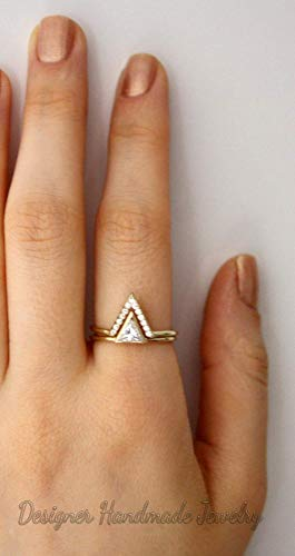 Triangle designer ring,Sterling silver ring,Handmade ring,Statement ring,Silver rings,Silver jewelry,Gift for her