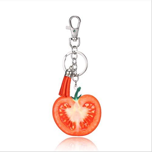 Sperrins Porte-clés fruits pomme tomate orange forme d'ananas porte-clés pour les cadeaux et l'école des enfants