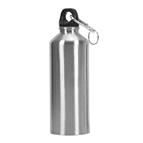 TJYEDUW Pequeño y portátil/13 oz/17 oz/20 oz/23 oz botella de agua deportiva de acero inoxidable con tapa, tapa de viaje a prueba de fugas(color: 400 ml plateado)