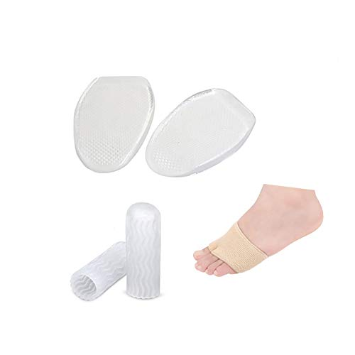 3pcs Metatarsal Pads, Ball of Foot Cushion, New Material, Foot Pain Relief Bunion Forefoot Cushioning Relief, Best for Mortons Neurom, Diabetic Feet, Callus, Blisters, Forefoot Pain