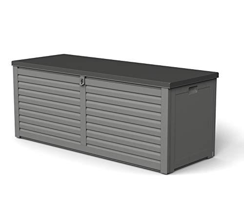 GARDIUN NT390 - Arcón de Resina Lift 390 L 53 x 143 x 56 cm Amortiguadores