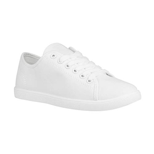 Elara Damen Sneaker Basic Chunkyrayan CL33319 White-38