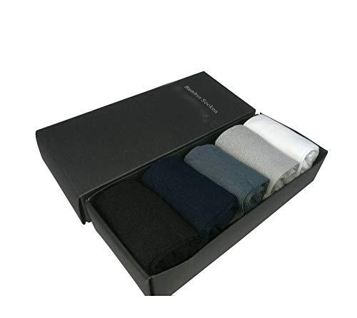 originele Home & Style 5 paar bamboe sokken heren antibacterieel | EU (38-44) | ademend | zweetabsorberend | kleuren zwart wit gekleurd