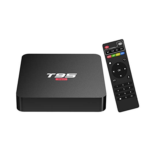 Android 10.0 TV Box,T95 Super Android Box 2GB Ram 16GB Rom Quad-Core Allwinner H3 Support WiFi 2.4GHz 3D 4K Media Player Smart TV Box