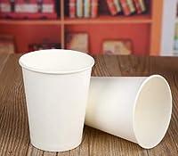 100ピース/パック250ミリリットル純粋なホワイトペーパーカップ使い捨てコーヒー茶ミルクカップ飲むアクセサリーパーティー用品受け入れカスタマイズ