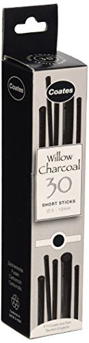 Speedball 1004 Coates Assorted Artist Willow Charcoal (30 Sticks), Black