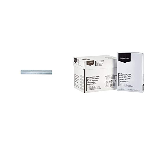 Wedo 0525235 Righello con Impugnatura per Destri e Mancini, 30 cm, Alluminio & AmazonBasics Carta da stampa multiuso A4 80gsm, 5x500 fogli, bianco