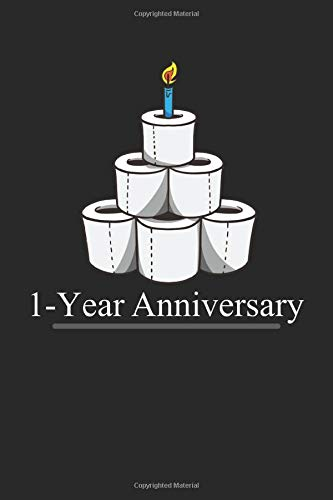 One year anniversary toilet paper with candle: Notebook: Lined paper with 120 pages in the format 15 x 22, 86 cm (6 'x 9')