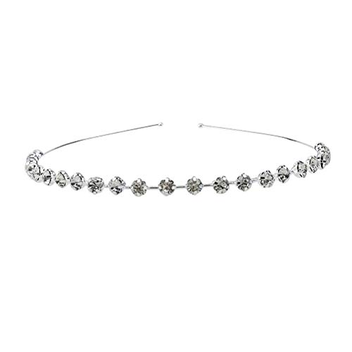 Las mujeres de moda novia diadema de diamantes de imitación reina corona...