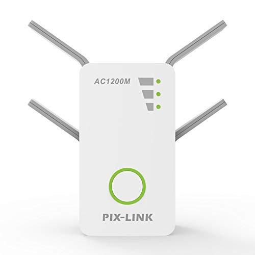 Unbekannt WiFi Range Extender, WLAN-Signalverstärker, AHNR AC1200 Wireless Repeater 2,4/5 GHz Dual Band Bis zu 1200 Mbit/s