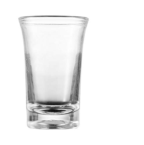 Party Shots Glasses,6-Pack Shot Glass,1.2-Ounce Acrylic Heavy Base Shot Glasses with 6 Dices for Tequila, Vodka, Cocktail (Transparent)