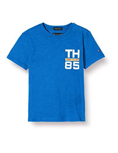 Tommy Hilfiger Jungen Th85 Logo Tee S/s T-Shirt, Blau (Lapis Lazuli 431-880 C5d), One Size (Herstellergröße: 92)