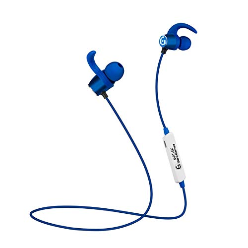 Matlek Euro Games Headphones Bluetooth Wireless Earphones with Mic and Sweat-Proof Design for Running, Gym Works with All The Phones, Tabs, Laptops and Smart Devices (Blue)