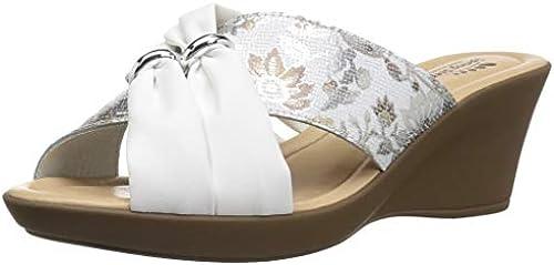 Spring Step damen& damen& damen& 039;s FELIM Wedge Sandal, Weiß Mutli, 37 M EU 6.5-7 US  Verkauf Online-Rabatt