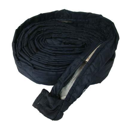 Stoff Schlauchschutz mit Zippverschluss Größe 12m