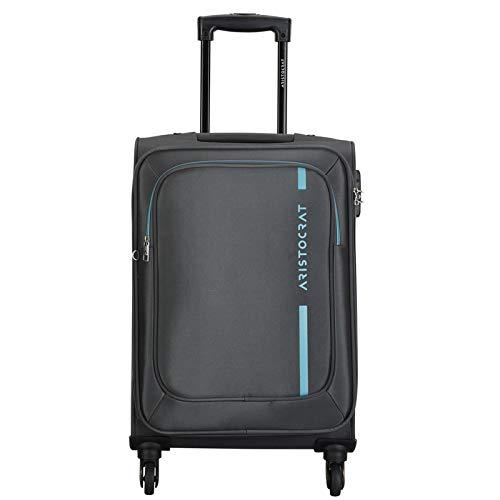 Aristocrat Dasher Grey 58 D Polyester Suitcase