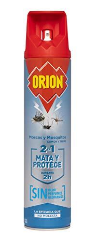Orion - Insecticida en Aerosol 2en1 Mata y Protege contra Moscas y Mosquitos, Sin olor - 600 ml