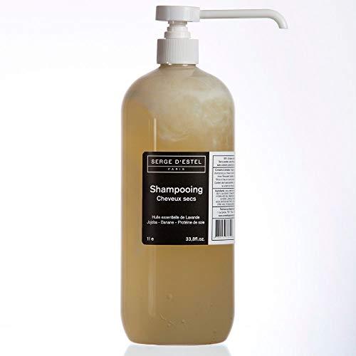 Shampoing Cheveux Secs 1L Nourrissant Hydratant Revitalisant Intense aux Actifs Végétaux et Huiles Essentielles Shampoing Naturel Non Testé sur les Animaux.