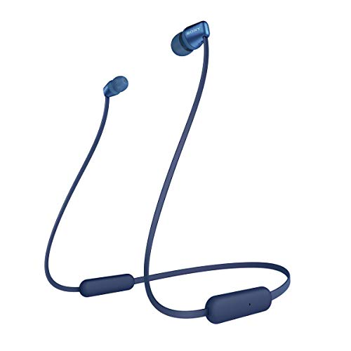 Sony WI-C310 Cuffie Wireless In-Ear, Compatibile con Google Assistant e Siri, Batteria fino a 15 Ore, Bluetooth, Blu