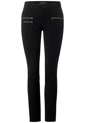 Street One Damen 373477 Style York Slim Fit Hose, Black, W42/L30