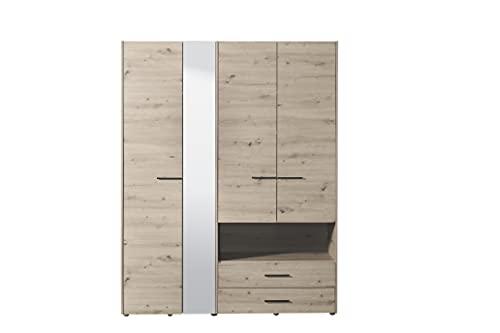 armadio quattro ante Armadio color quercia 4 ante 2 cassetti e specchio