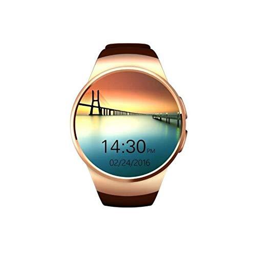Smart Armband Waterdichte Fitness Bluetooth Telefoon Horloge Bel Online Hartslag Sport Stappenteller Smart Horloge, Goud