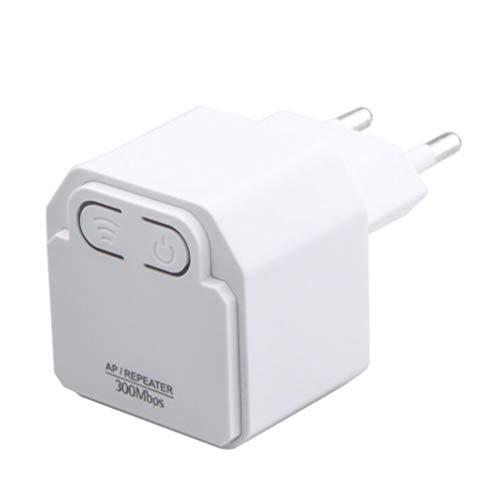CHENGL 300M Wireless Mini WiFi Repeater 802.11n High-Speed-Verstärker Range Extender Booster Antennensignal gebaut,Weiß