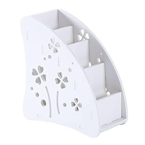 Caja de almacenamiento de control remoto de plástico ecológico para TV, aire acondicionado, soporte de mando a distancia, caja organizadora de escritorio (color: B)
