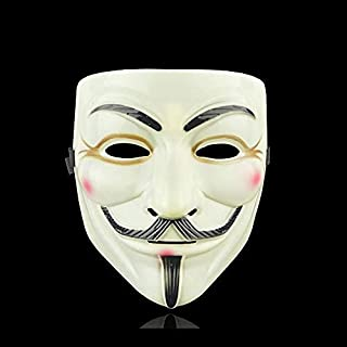 Horror Masks Movie Mask Anonymous Guy Fawkes Halloween Christmas Party Adult Kids Film Theme Mask (Color : 5)