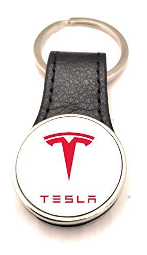 Schlüsselanhänger Stahl / Kunstleder Road Runner – Tesla 2 (2 Seiten)