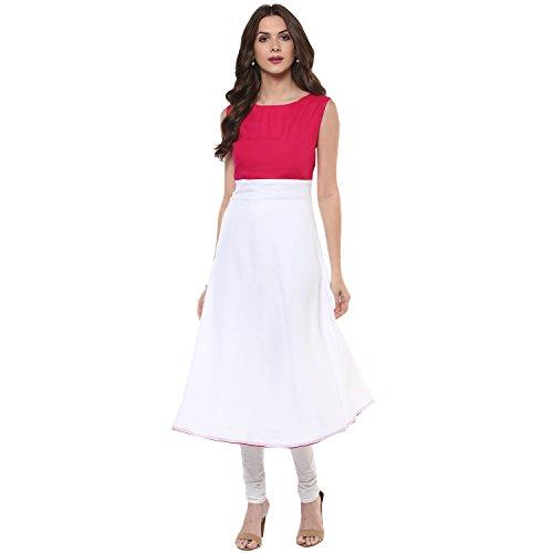 Indian Virasat Women's Kurta(IVK321-XXL_White_XX-Large)