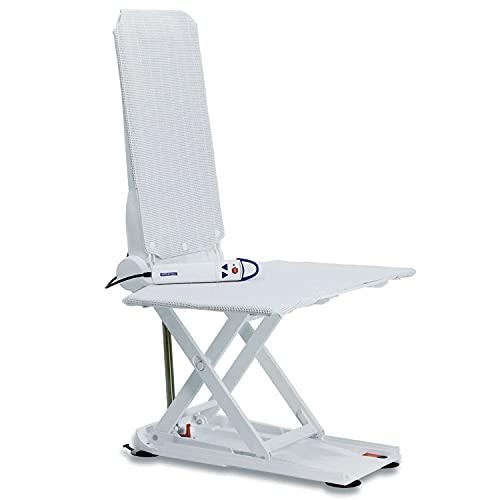 Elevador de baño reclinable - Invacare Aquatec Orca Bath Lift - Ayuda para el baño y seguridad - Cubiertas blancas ⭐